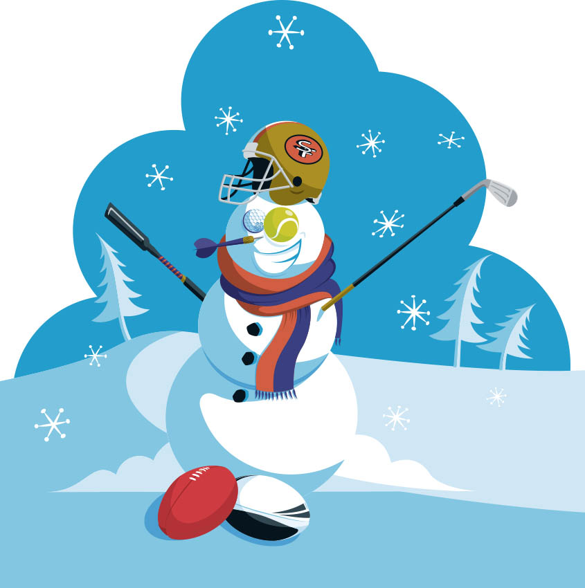 Sporty the Snowman